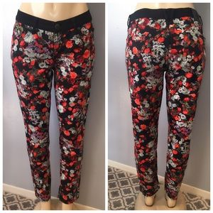 BCBGeneration Floral Printed Skinny Jeans Pants